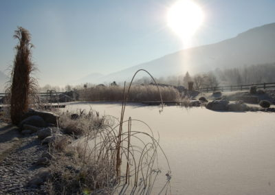 Ferienhaus Franz - erster Frost - Naturschwimmbad